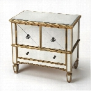 Butler Specialty Masterpiece Mirrored Accent Cabinet in Gold