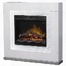 Dimplex Lukas 48 Electric Fireplace Mantel in Glossy White