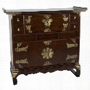 Oriental Korean Design Scholar's Accent Chest in Rosewood