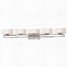 Z-Lite Cetynia 5 Light LED Vanity Light in Brushed Nickel