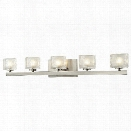 Z-Lite Rai 5 Light LED Vanity Light in Brushed Nickel