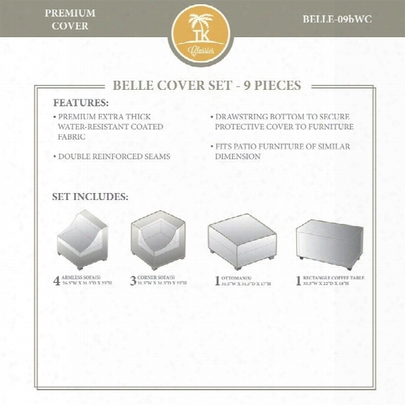 Tkc Belle 9 Piece All Weather Cover Set In Beige