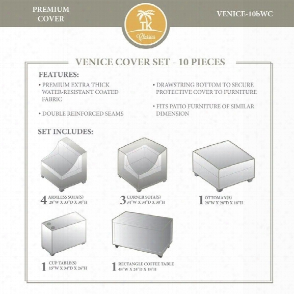 Tkc Venice 10 Piece All Weather Cover Set In Beige