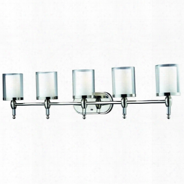 Z-lite Argenta 5 Light Vanity Light In Chrome