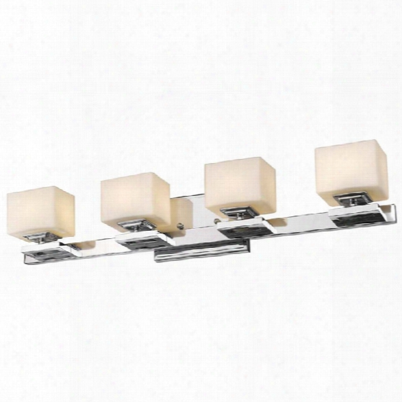Z-lite Cuvier 4 Light Led Vanity Light In Chrome