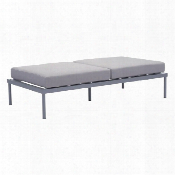 Zuo Sand Beach Outdoor Double Bench In Gray