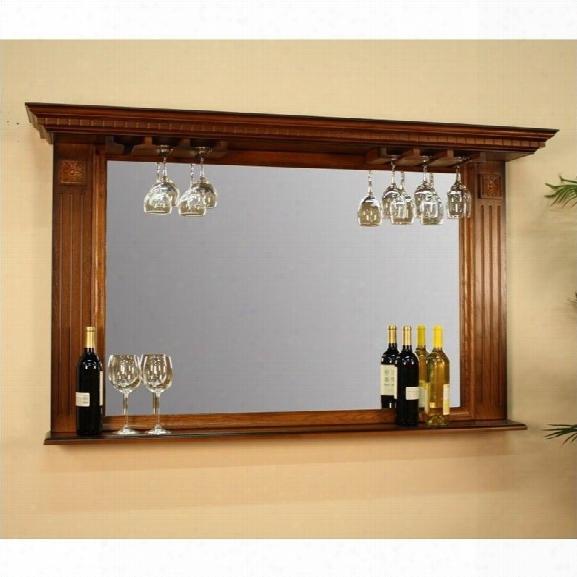 American Heritage Billiards Kokomo Mirror In Vintage Oak