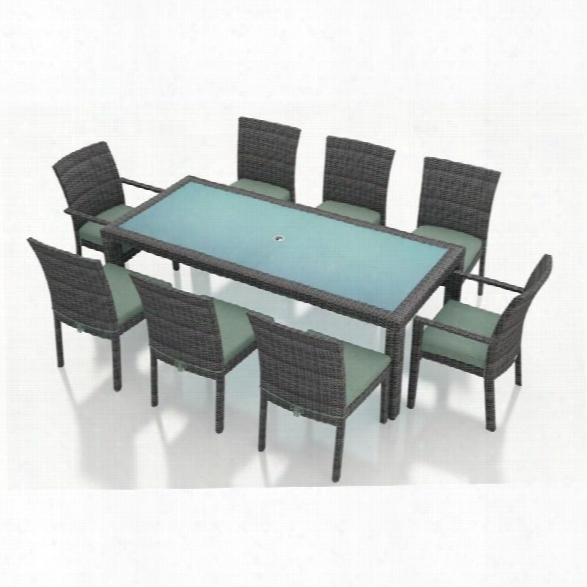 Harmonia Living District 9 Piece Patio Dining Set In Canvas Spa