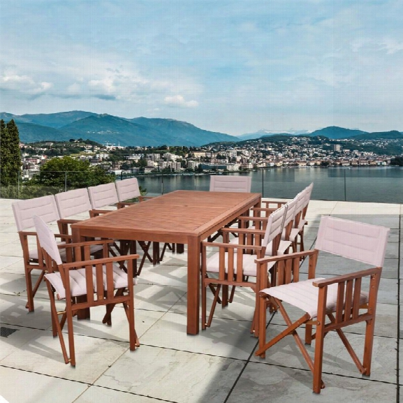 International Home Amazonia Panama 11 Piece Patio Dining Set In Khaki