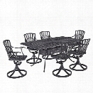 Home Styles Largo 7 Piece Patio Dining Set in Charcoal
