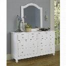 NE Kids Lake House 8 Drawer Dresser with Mirror in White