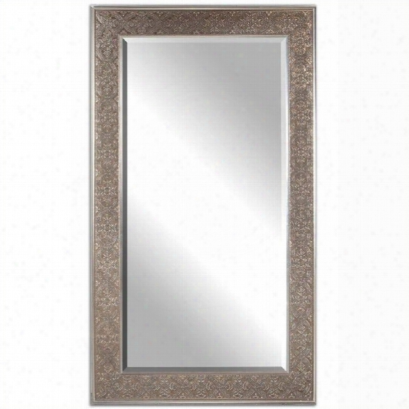 Uttermost Villata Mirror In Antique Silver Champagne