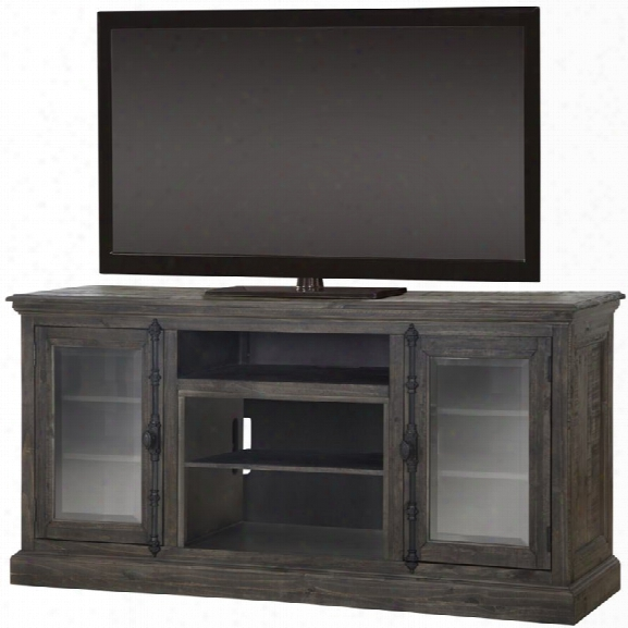Dimplex Ashton 68 Tv Stand In Weathered Gray