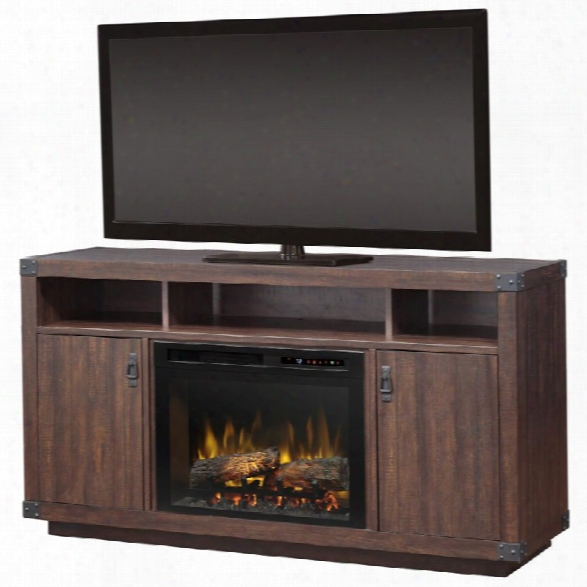 Dimplex Dale 59 Fireplace Tv Stand In Grainery Brown
