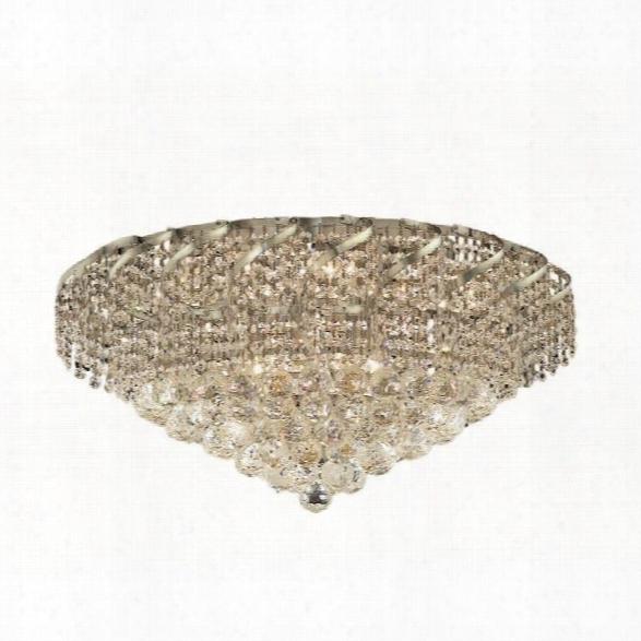Elegant Lighting Belenus 26 10 Light Elegant Crystal Flush Mount
