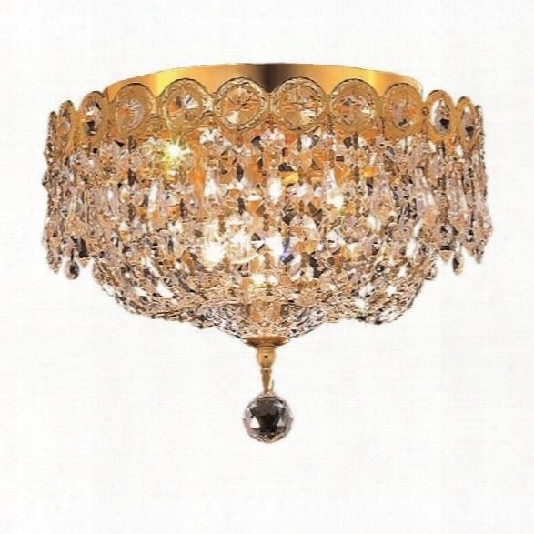 Elegant Lighting Century 10 3 Light Elements Crystal Flush Mount