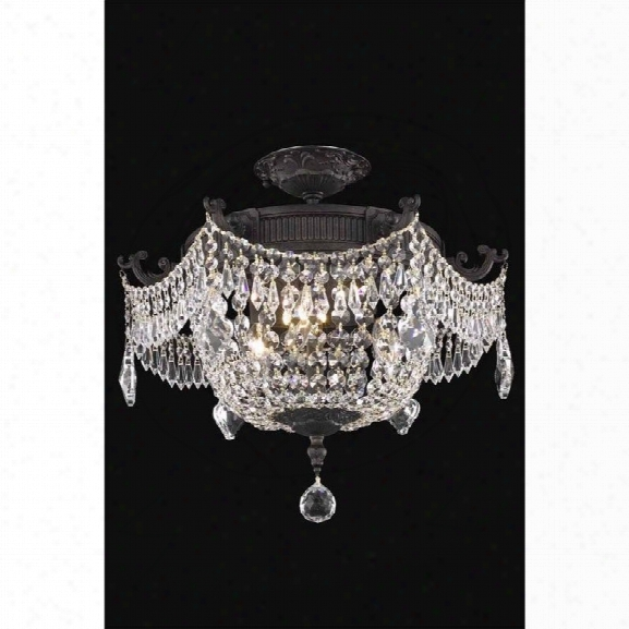 Elegant Lighting Esperanza 18 3 Light Spectra Crystal Flush Mount