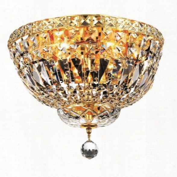 Elegant Lighting Tranquil 14 4 Light Spectra Crystal Flush Mount