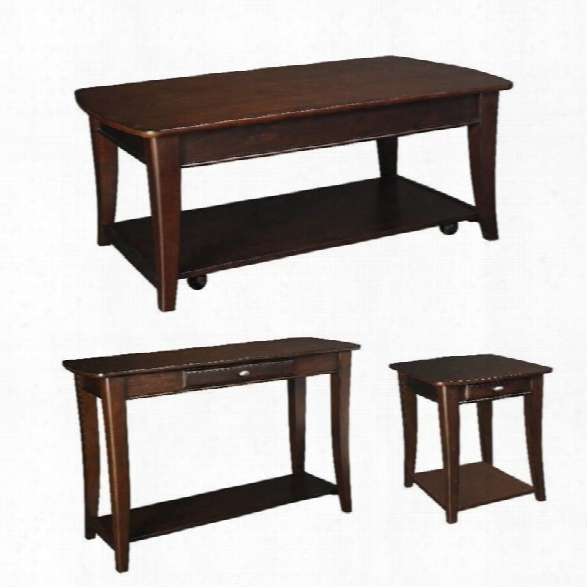 Hammary Enclave 3 Piece Occasional Table Set In Sable