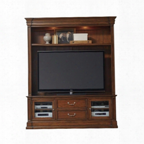 Hooker Furniture Clermont 2-piece 75 Entertainment Center In Warm Cherry