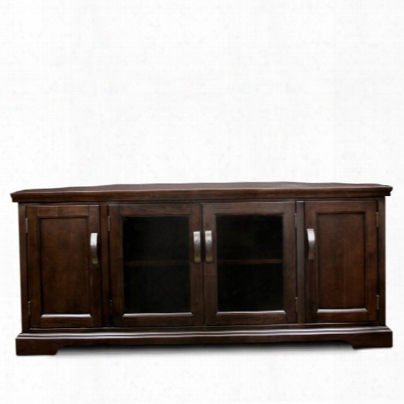 Leick Riley Holiday 56 Corner Tv Stand In Chocolate Cherry