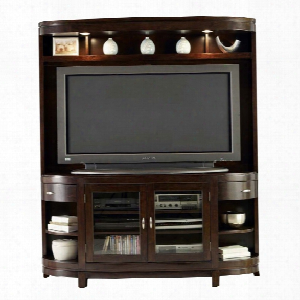 Liberty Furniture Avalon Entertainment Center In Dark Truffle
