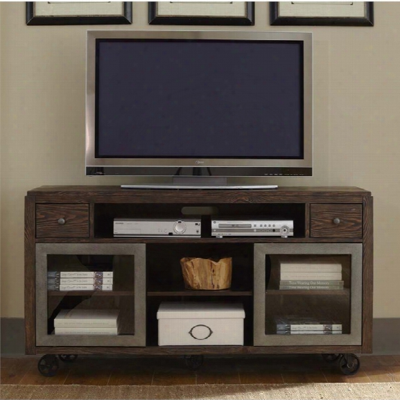 Liberty Furniture Avignon Tv Stand In Rustic Brown