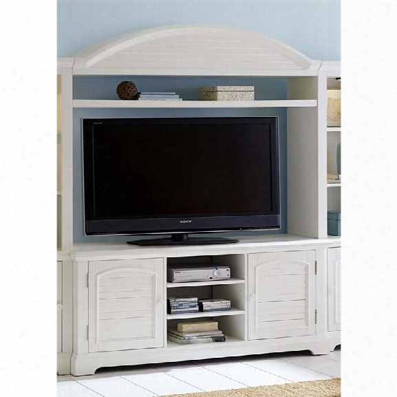 Liberty Furniture Summer House Entertainment Center In Oyster White