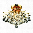 Elegant Lighting Toureg 16 3 Light Elements Crystal Flush Mount