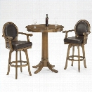 Hillsdale Warrington 3 Piece Pub Table with 2 Stools in Rich Cherry