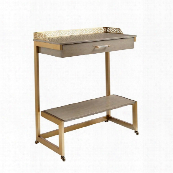 Coastal Living Oasis-catalina Bar Cart In Grey Birch