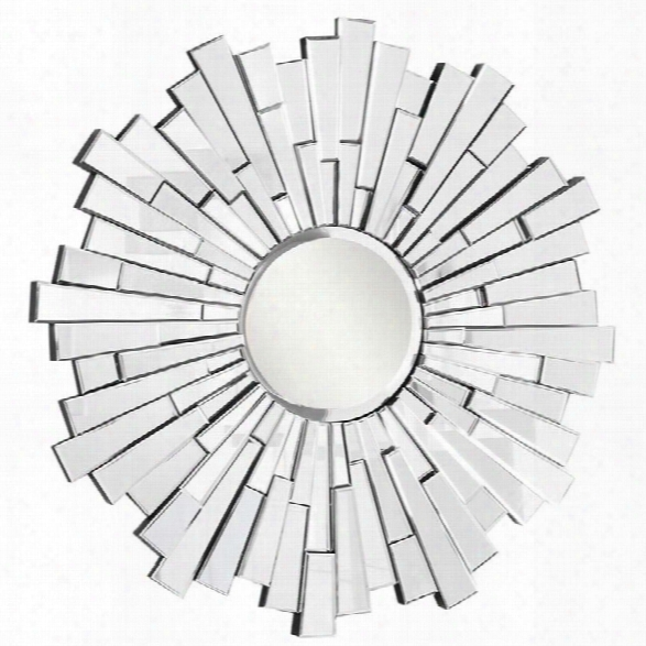 Elegant Lighting Modern 48 Round Decorative Mirror In Silver