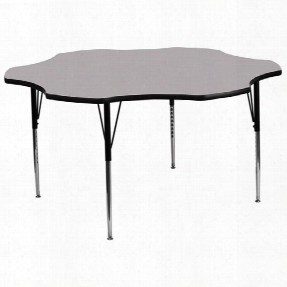 Flash Furniture Flower Shaped Activity Table In Grey-25.13 Table Height