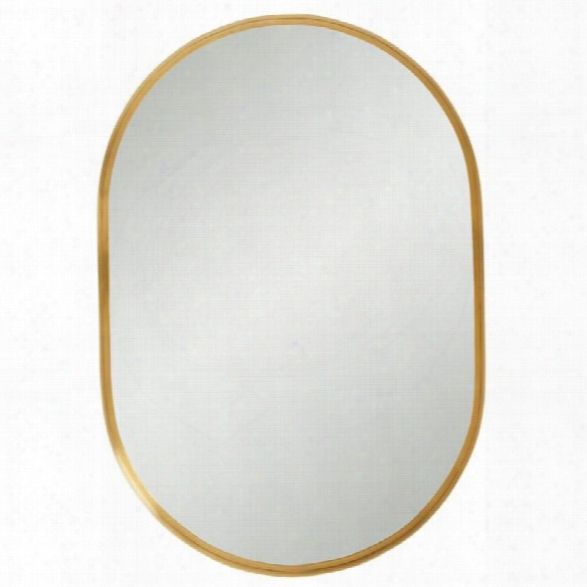 Stanley Furniture Panavista Capsule Mirror In Satin Brass