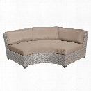 TKC Florence Curved Armless Patio Sofa in Wheat (Set of 2)