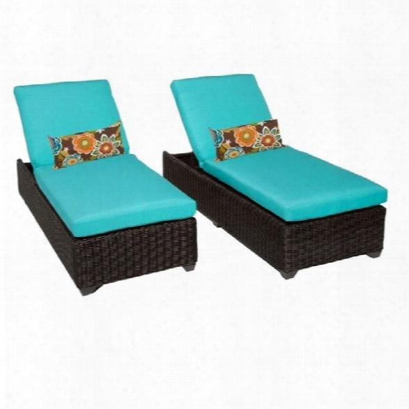 Tkc Venice Wicker Patio Lounges In Aruba (set Of 2)