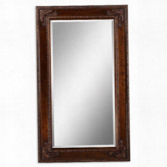 Uttermost Edeva Mirror In Antiqued Gold