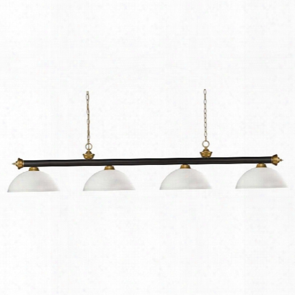 Z-lite Riviera 4 Light Billiard Light In Bronze And Matte Opal