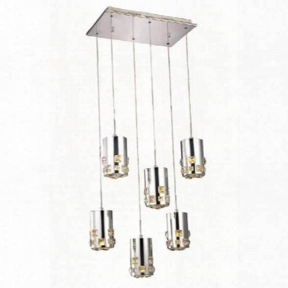 Elegant Lighting Broadway 11 6 Light Royal Crystal Pendant Lamp