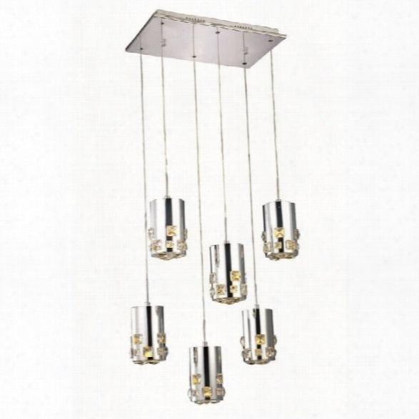 Elegant Lighting Broadway 11 6 Light Royal Crystal Pendant Lamp