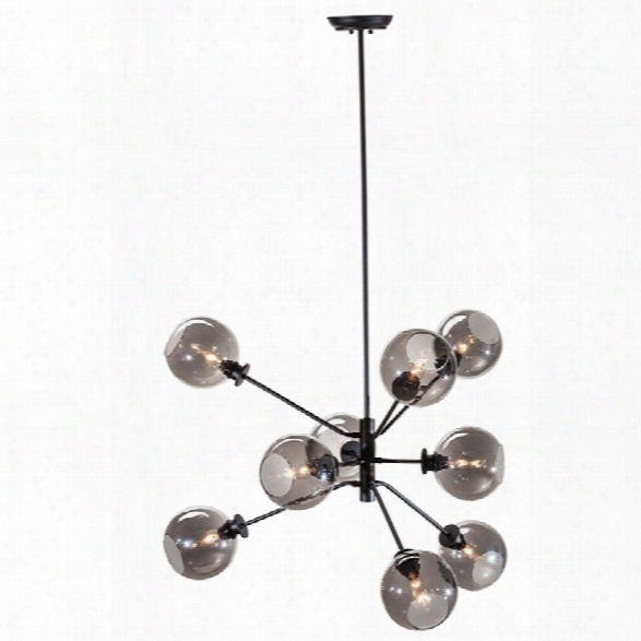 Nuevo Atom 28.75 9 Light Pendant In Gray