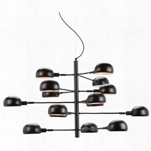 Nuevo Quinze 15 Light Iron Pendant In Black