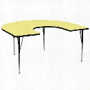 Flash Furniture Horseshoe Activity Table in Yellow-30.13 Table Height