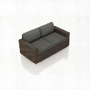 Harmonia Living Arden Patio Loveseat in Canvas Charcoal