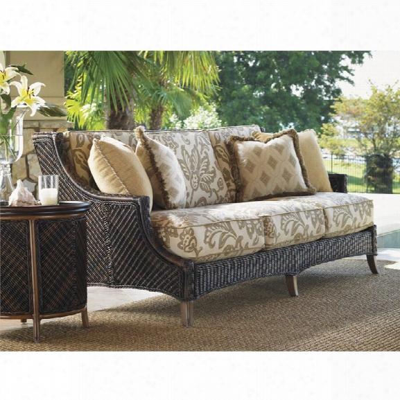 Tommy Bahama Island Estate Lanai Patio Sofa In Warm Umber