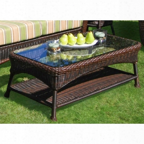 Tortuga Sea Pines Outdoor Coffee Table In Java