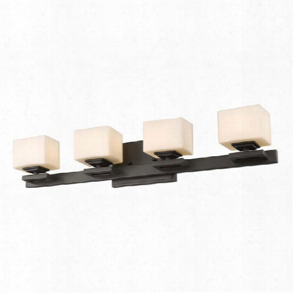 Z-lite Cuvier 4 Light Led Vanity Light In Bronze