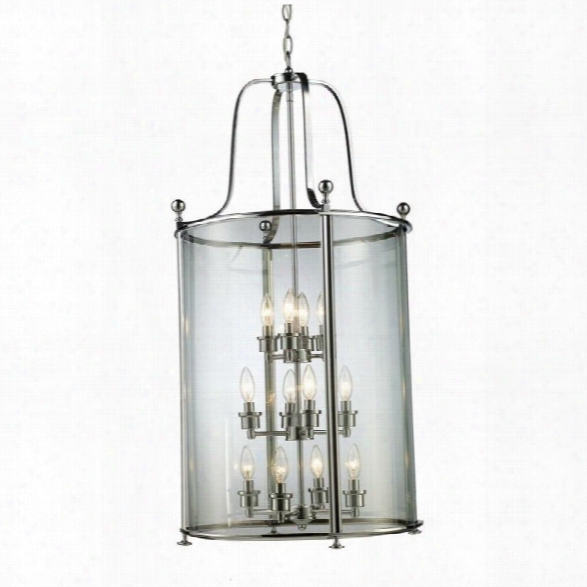Z-lite Wyndham 12 Light Pendant In Chrome