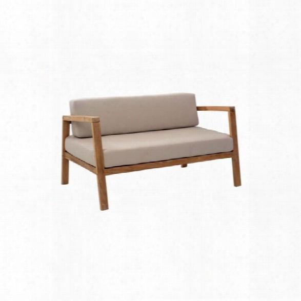 Zuo Bilander Outdoor Fabric Sofa In Beige