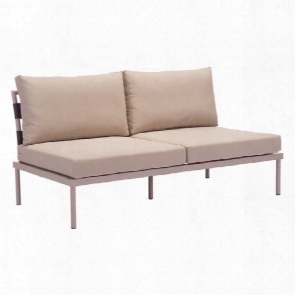 Zuo Glass Beach Outdoor Sofa In Taupe